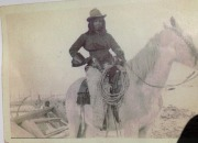 With her six shooters