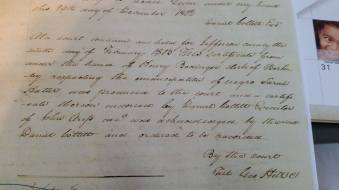 Deed of Freedom for Sarah 1803