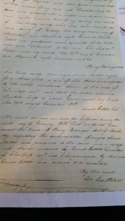 Deed of freedom for Sarah Hatter