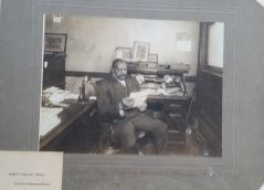John Pegg Sr in the office 1914
